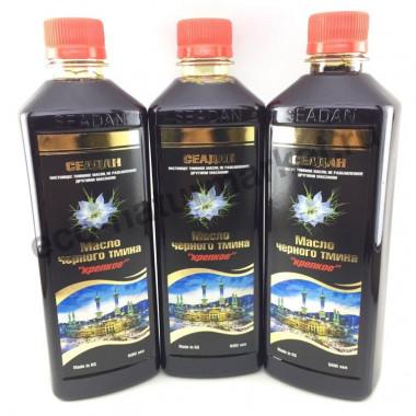 Масло черного тмина оптом Сеадан 500 мл (3шт. с осадком)