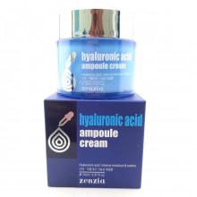 Крем для лица ампульный с гиалуроновой кислотой Zenzia  Hyaluronic Acid ampoule Cream 70 мл