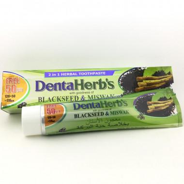Зубная паста с черным тмином Denta Herb's Blackseed Miswak 170гр (Индия)