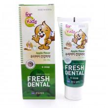 Зубная паста для детей с экстрактом яблока Hanil Kids Fresh Dental Apple Flavor  80 гр