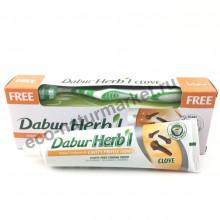 Зубная паста Dabur Clove с гвоздикой 150гр с зубной щеткой