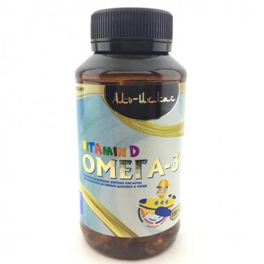 Омега 3 + витамин D в капсулах для детей Аль Ихлас (150шт)