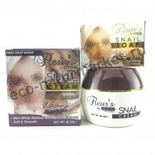 Омолаживающий крем для лица с экстрактом улитки Hemani Fleur's Snail Cream