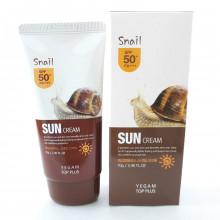 Солнцезащитный крем Ye Gam SPF 50+ с муцином улитки 70 гр  Корея